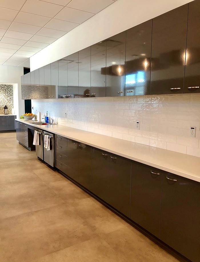 kitchen at sonic echopark office