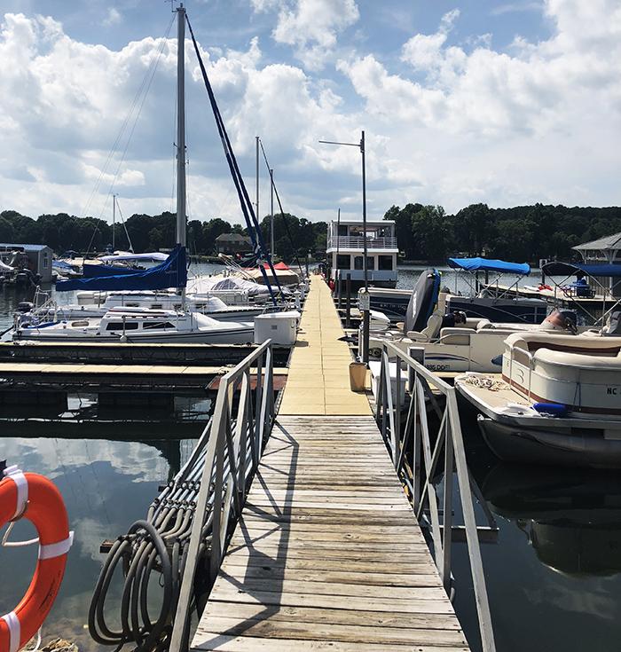 lake dock near charlotte nc