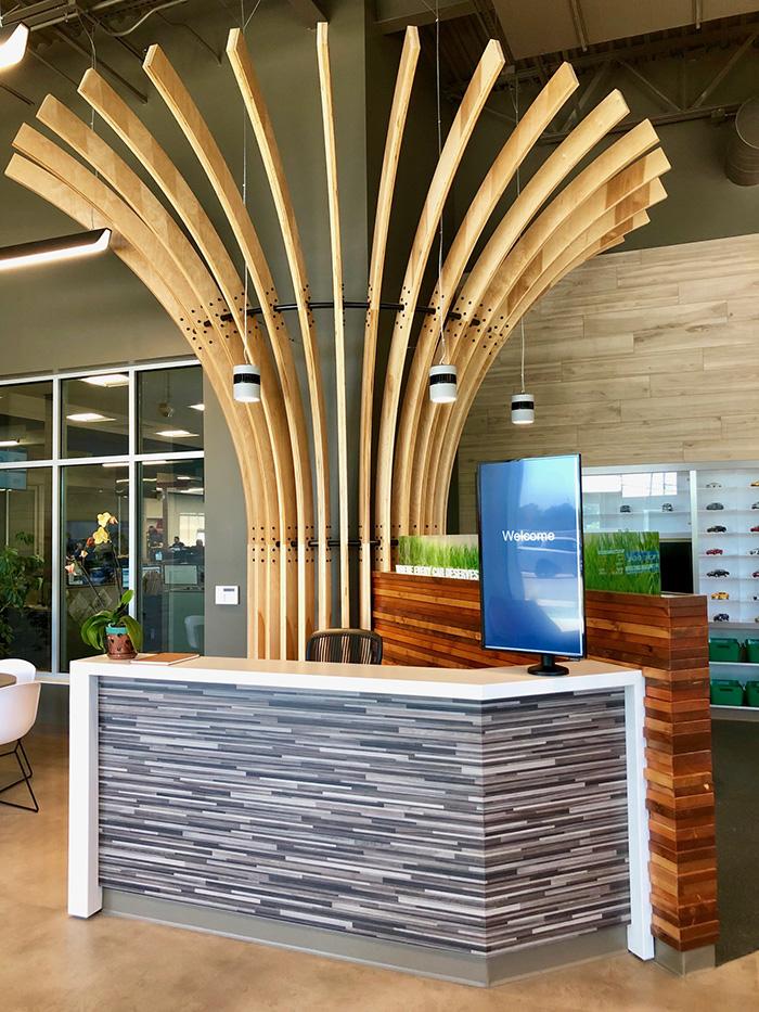 lobby area at echopark sonic automotive charlotte