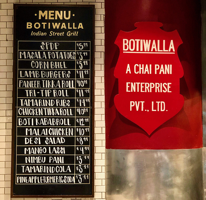 menu at botiwalla in charlotte