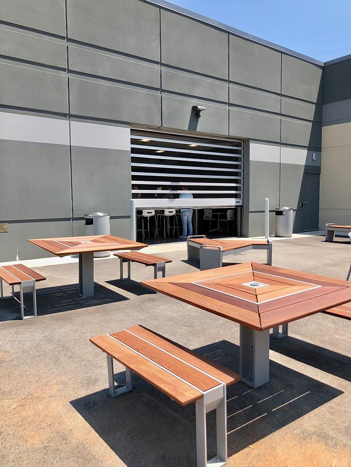 outdoor patio sonic office