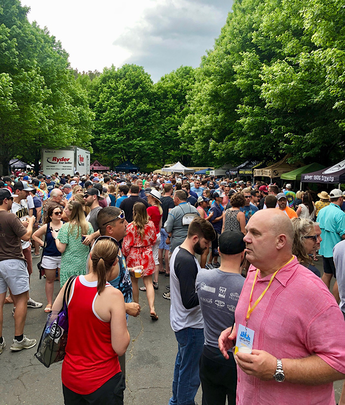 parking lot area untappd beer festival charlotte