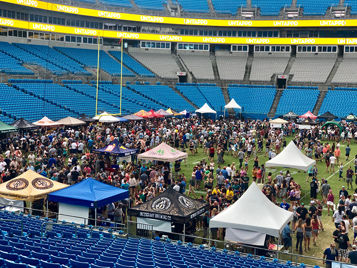untappd beer festival on field panthers