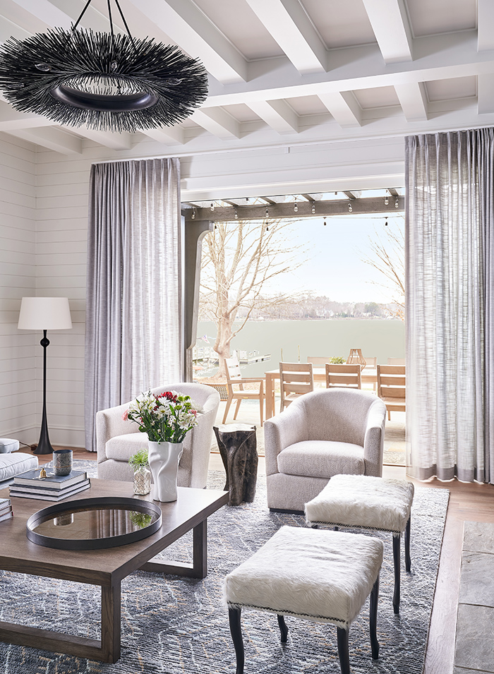 Home of the Year 2019 lakeside living sitting area