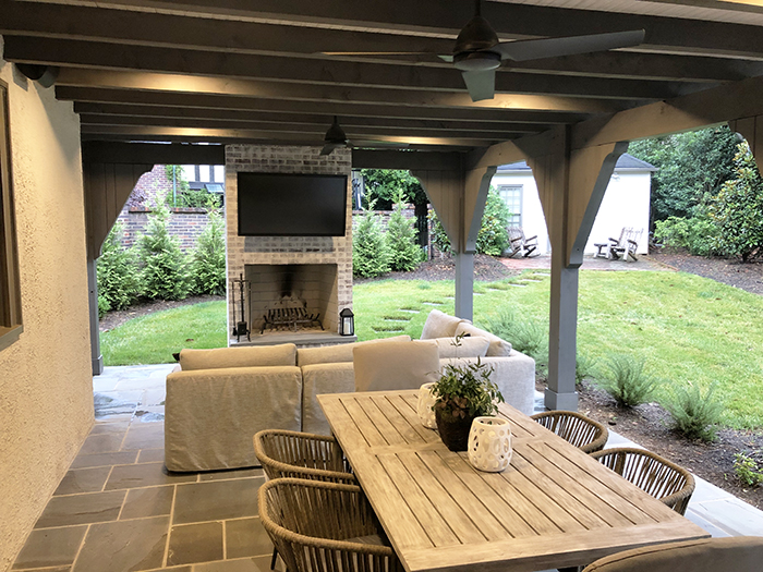 Home of the Year 2019 moder turdor concept outdoor living area