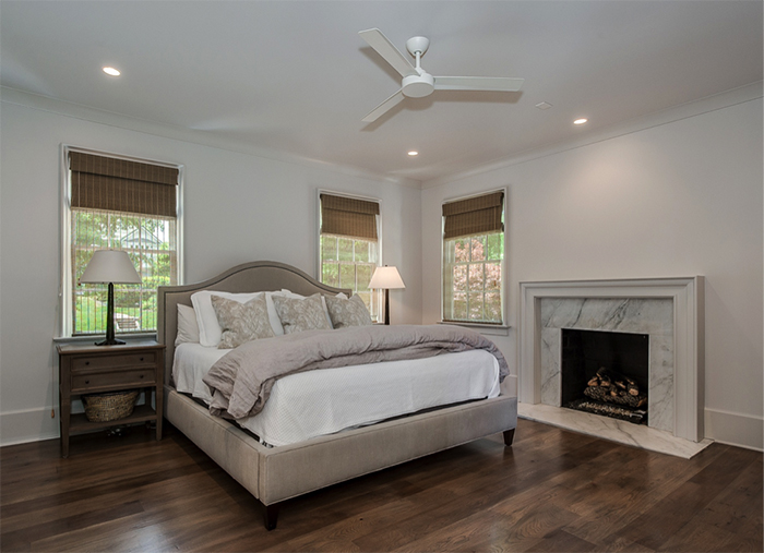 Home of the Year modern tudor concept master bedroom