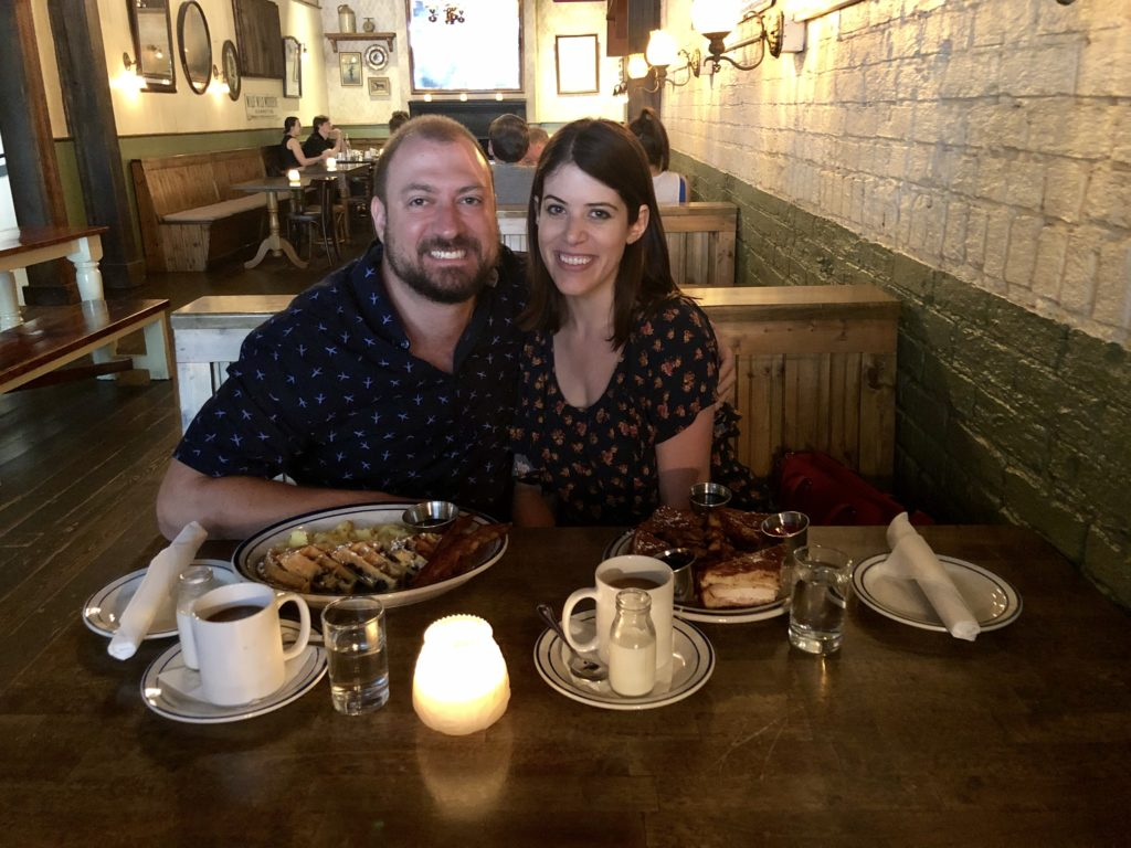 Is it weird that my fiancé and I same-side at restaurants? Here's why I don't think so