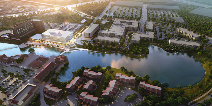 Waters Edge University City rendering
