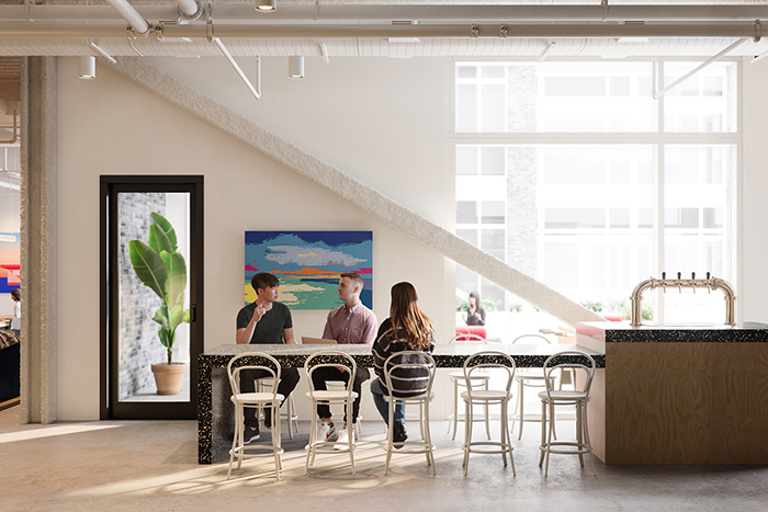 WeWorks-new-RailYard-location-beer table