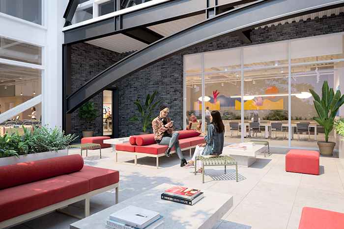 WeWork's new RailYard location outside