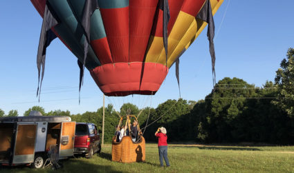 How does the Eagle's Wings $500 hot air balloon ride for two actually work?