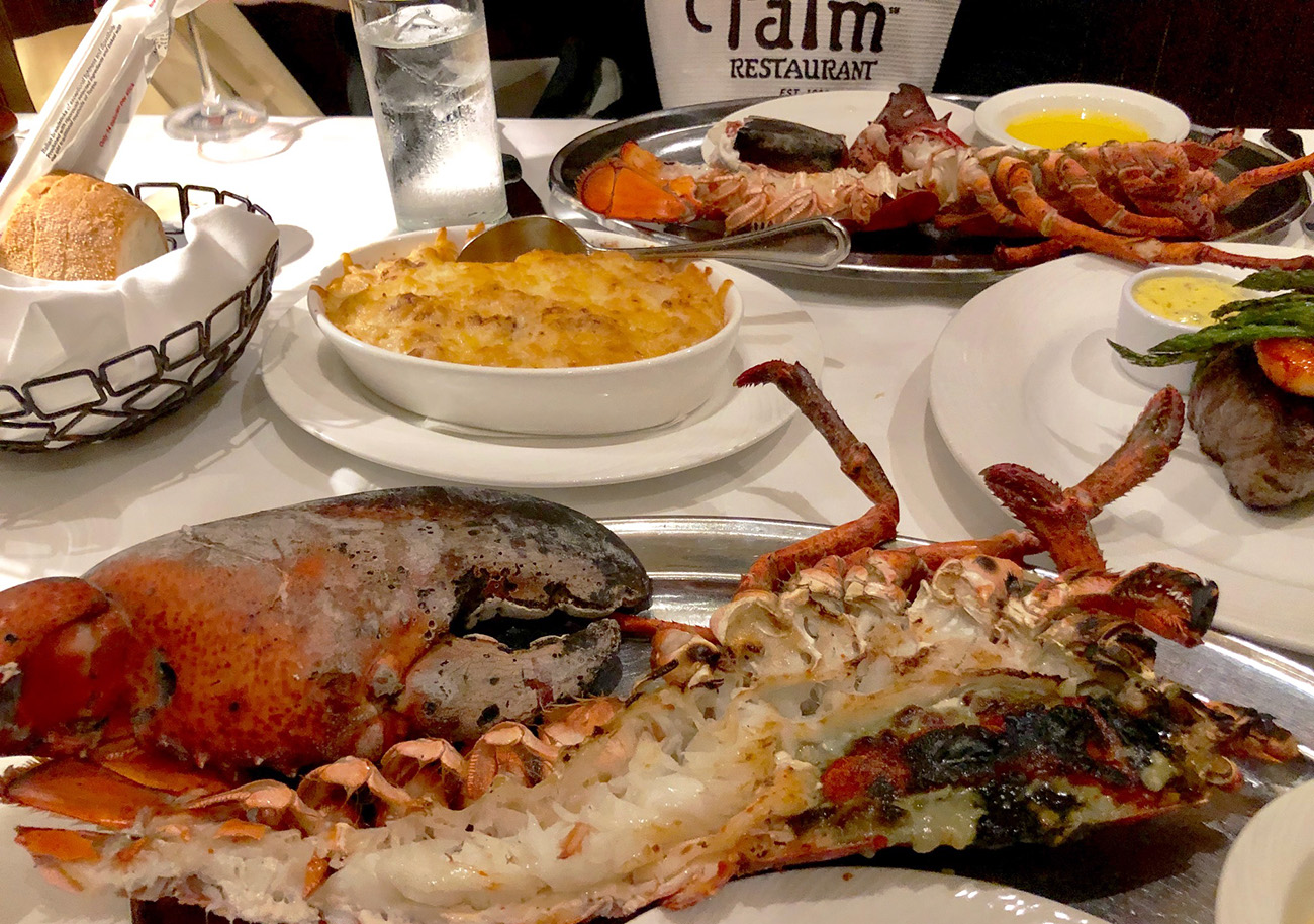 The Palm now offering 4-pound jumbo Novia Scotia lobster dinner for $99