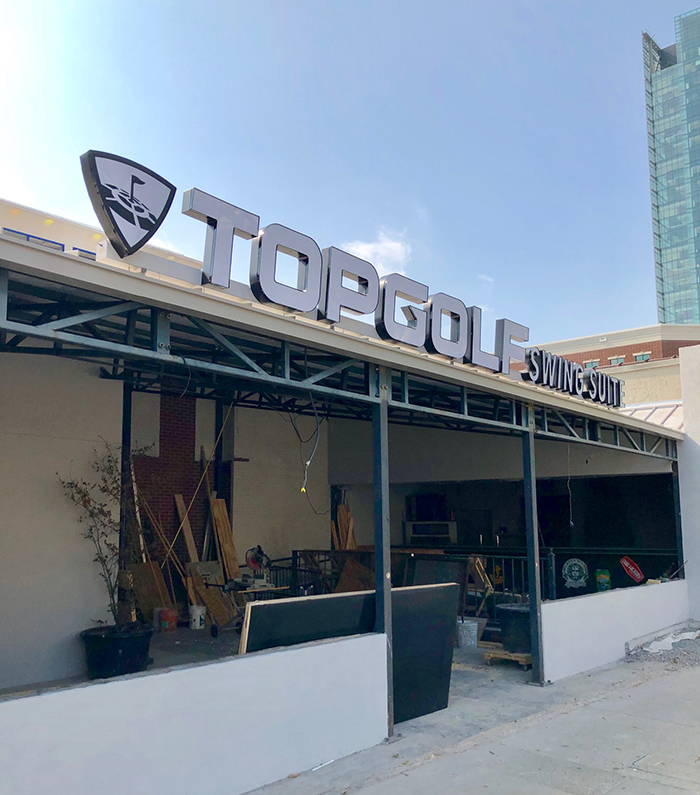 location of topgolf swing suites in uptown charlotte
