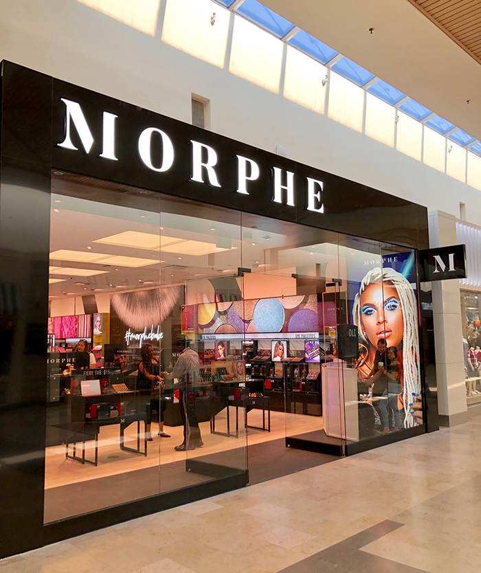 morphe store location southpark mall