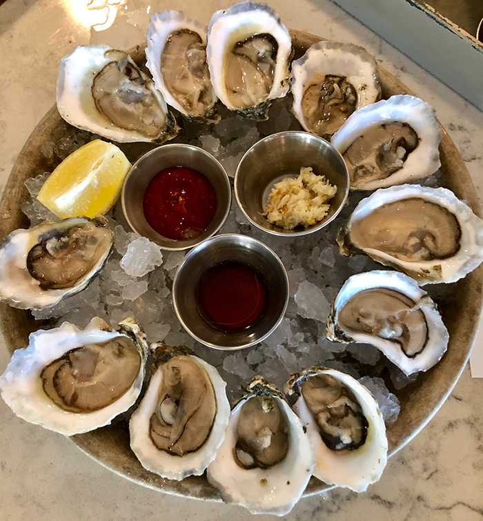 oysters at rocksalt seafood restaurant in charlotte