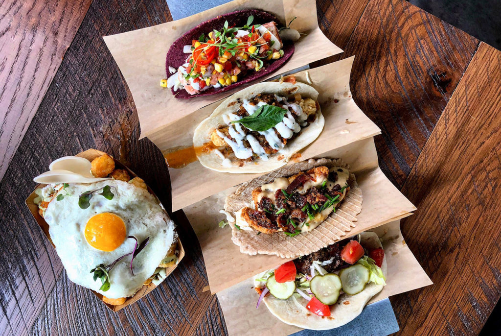Funky taco joint named Velvet Taco open now inside Optimist Hall — view menu and 18 photos