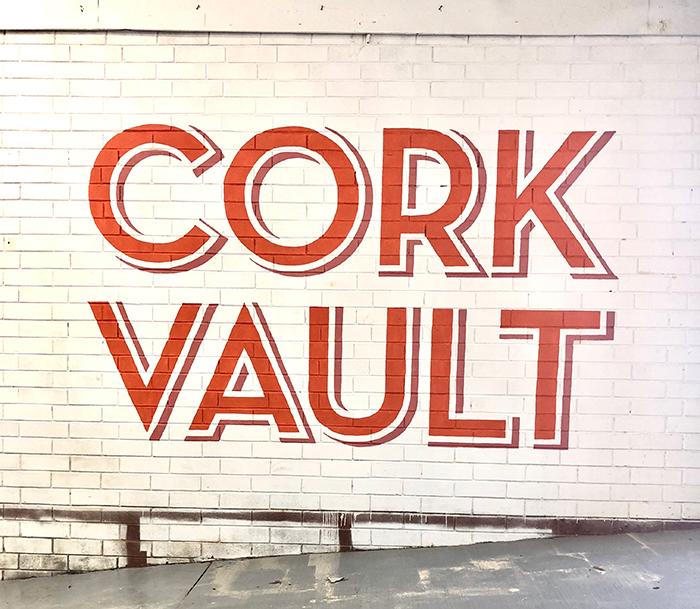 Cork Vault signage