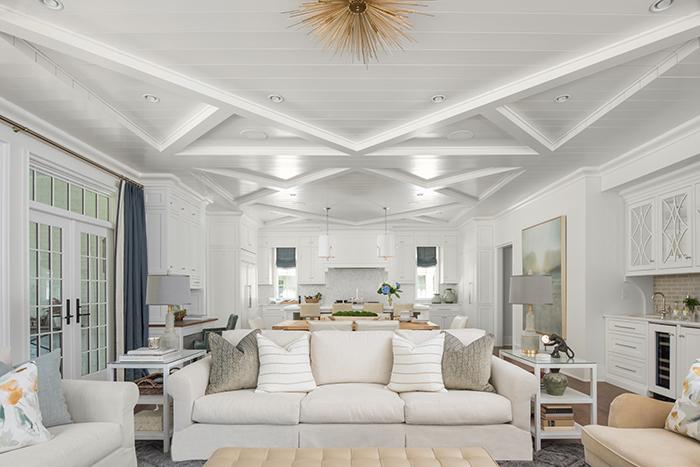 Hillside house custom ceiling work