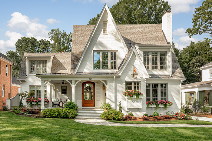 Hillside house exterior