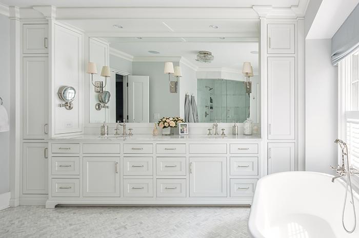 Hillside house master bath