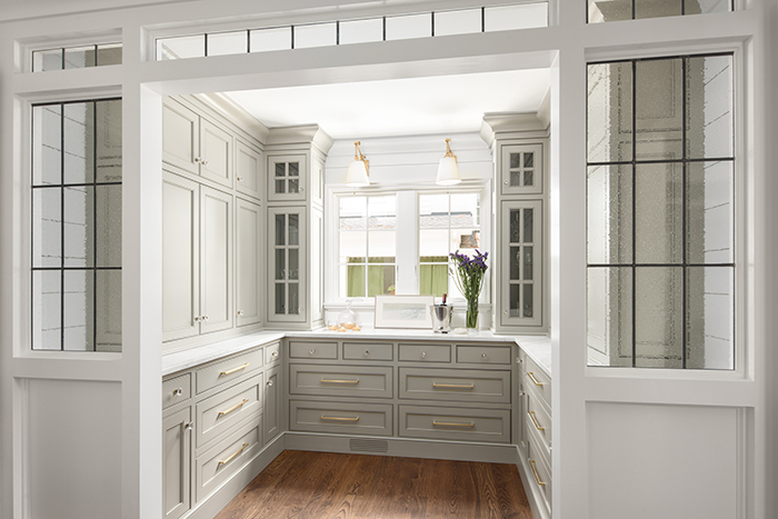 Hillside house pantry