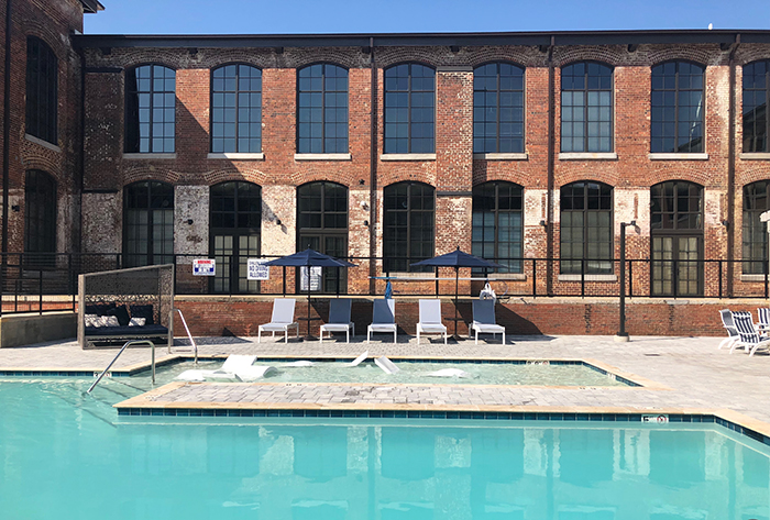 Lofts at Hawthorne Mill pool
