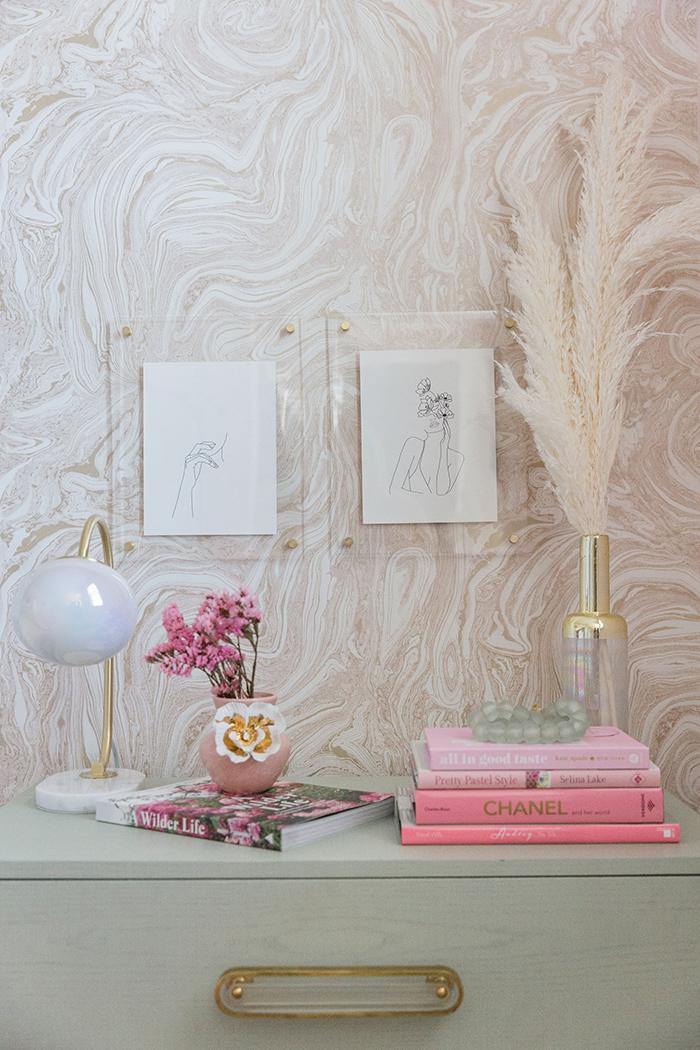 Mckenna Bleu girly room wallpaper detail