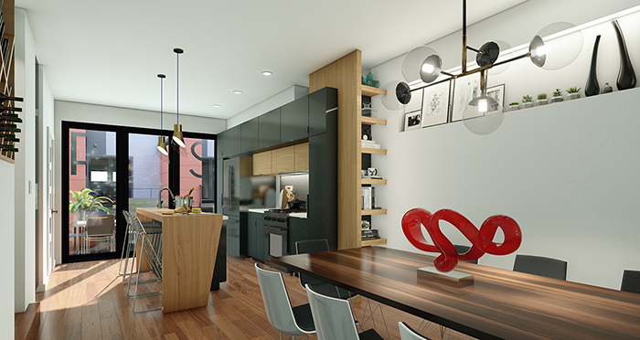 Nandina Towns at 1800 Central Avenue Modern Townhomes in Plaza M