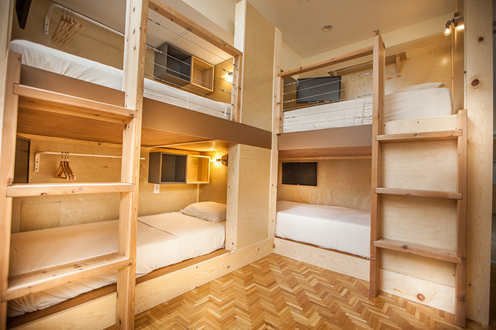 PodShare dorm-style co-living bunks