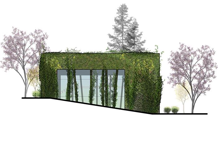 Topiary Elevation van landingham estate