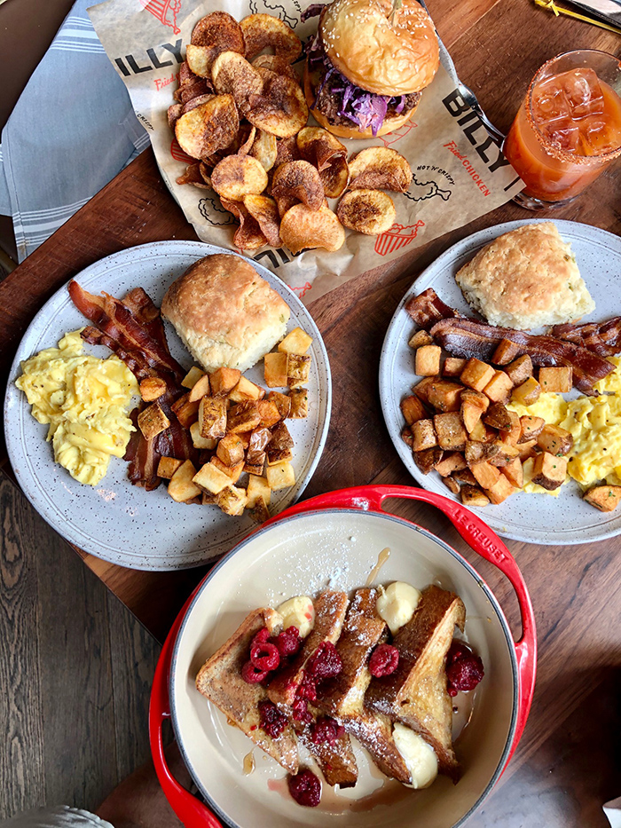 brunch menu items at haymaker in charlotte