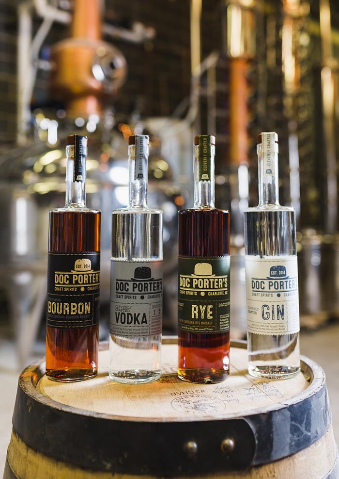 doc porter's distillery charlotte bottle of liquor