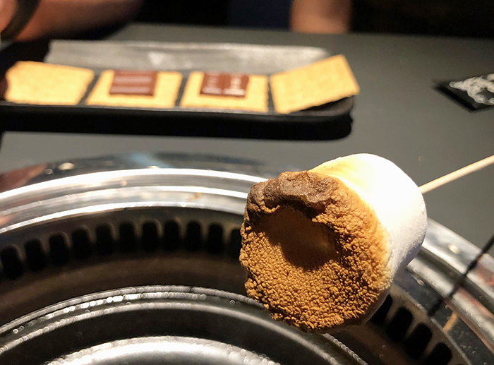 marshmellow smores at gyu kaku