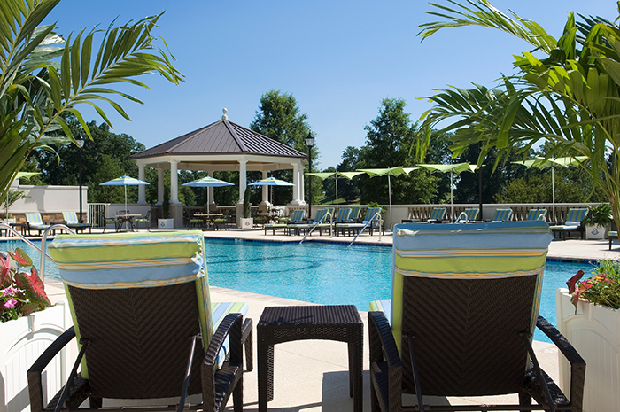outdoor pool at ballantyne hotel charlotte