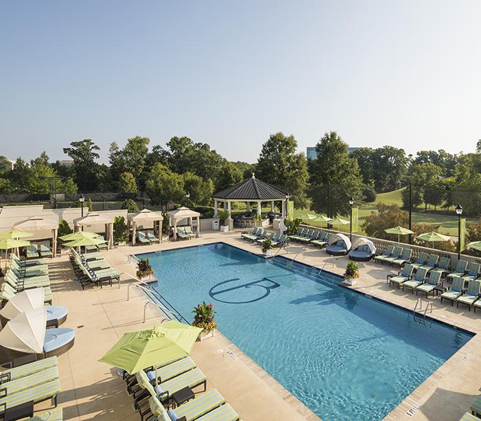 pool at the ballantyne hotel charlotte