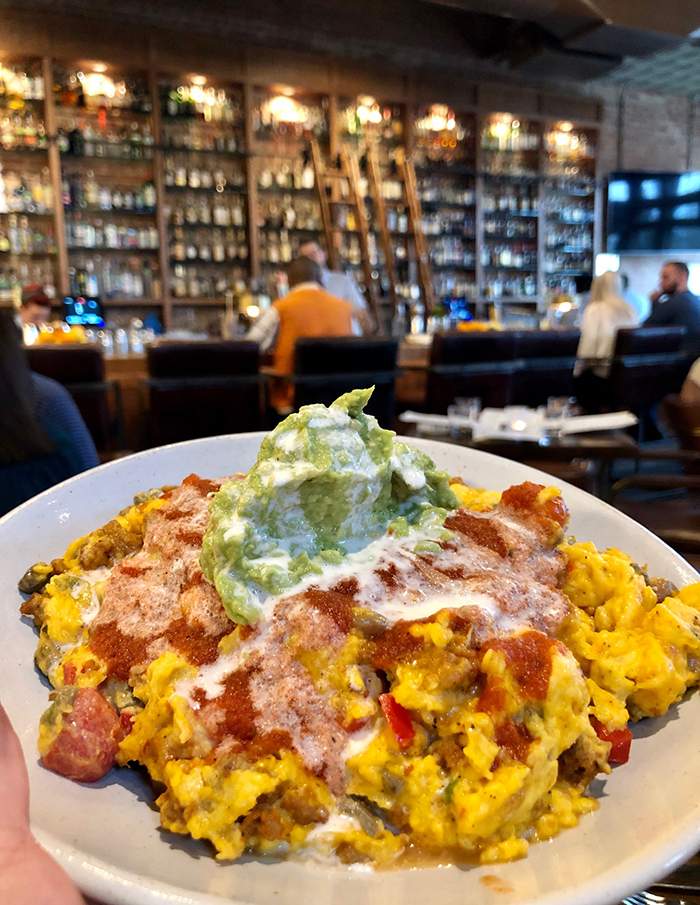 rancheros scramble at the crunkleton brunch