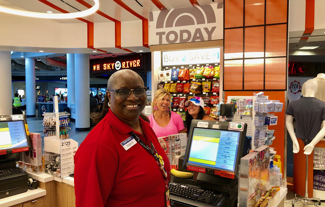 Have you met the No. 1 happiest person in Charlotte? She works in Concourse E at the airport