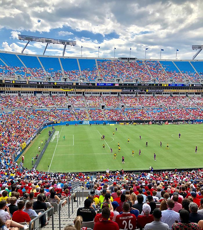 soccer in bank of america stadium