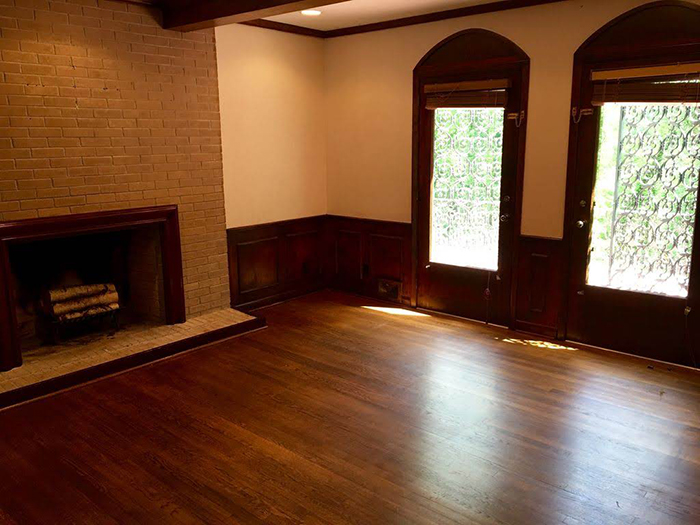 Hickory mediterranean renovation before living room 1