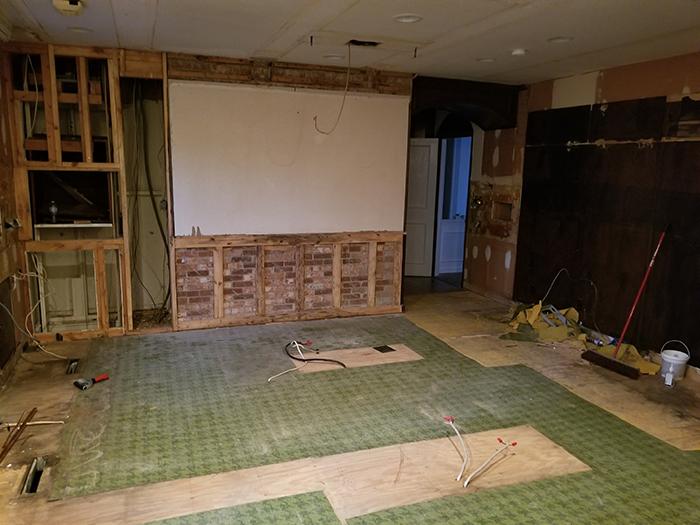 Hickory mediterranean renovation before living room
