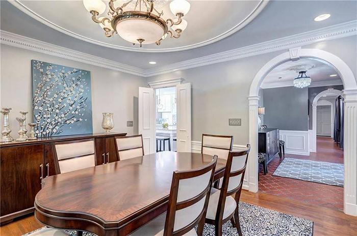 Hickory mediterranean renovation dining room