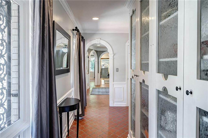 Hickory mediterranean renovation hallway details