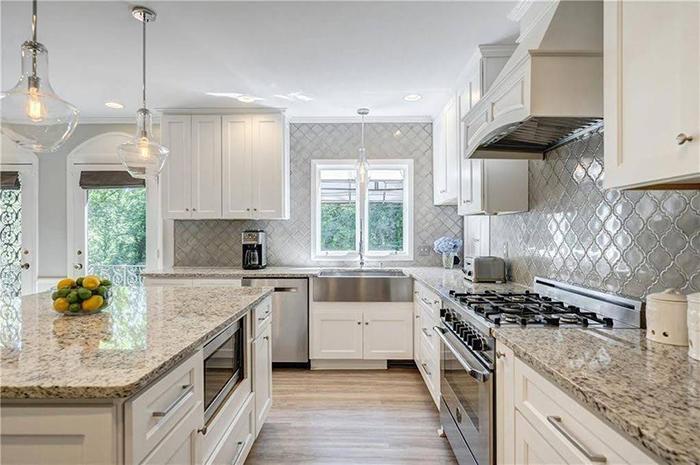 Hickory mediterranean renovation kitchen