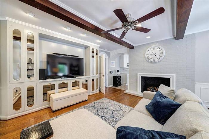 Hickory mediterranean renovation living room