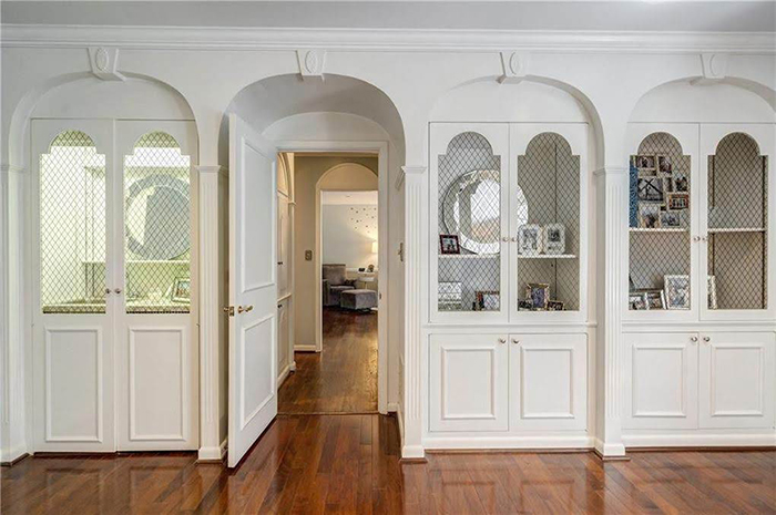 Hickory mediterranean renovation master bedroom built-ins