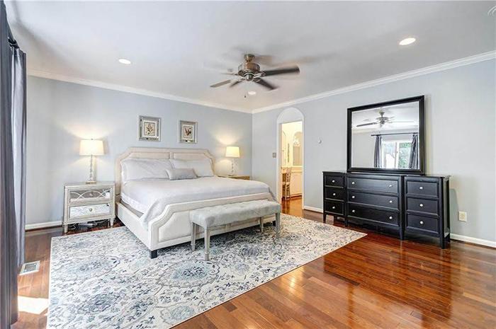 Hickory mediterranean renovation master bedroom