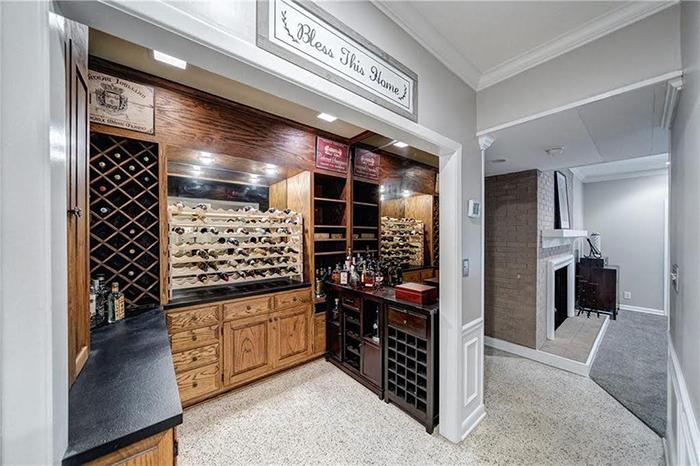 Hickory mediterranean renovation wine storage