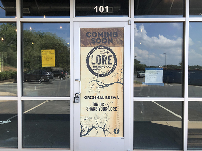 Lore Brewing Company Indian Land signage