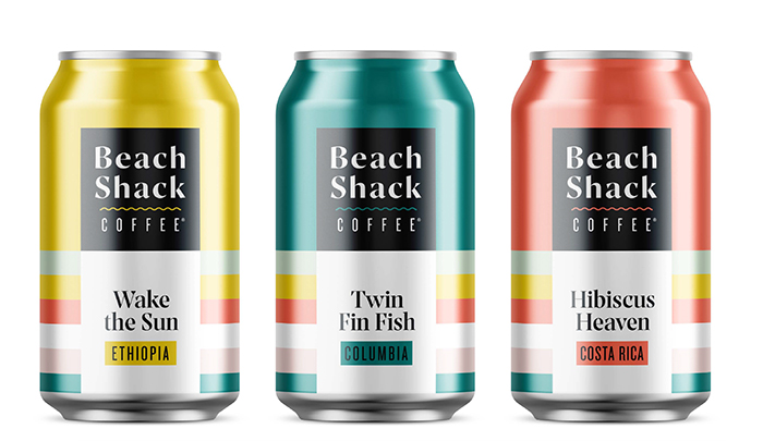 Sycamore Beach Shack Coffee cans