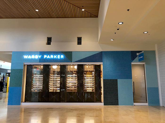 Warby Parker SouthPark exterior side entrance
